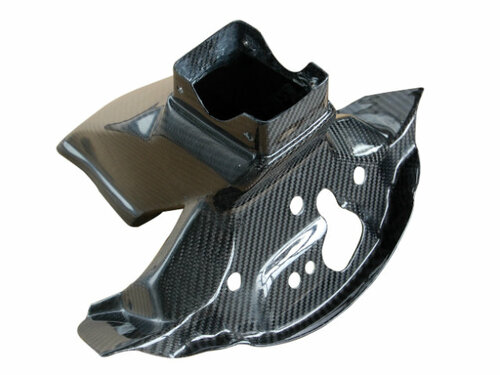 Upper Fairing Stay in Glossy Twill Weave Carbon Fiber for Kawasaki ZX10R 2011-2015