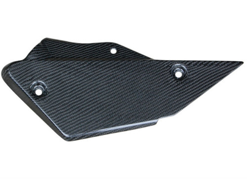 Lower Heat Shield in Glossy Plain Weave Carbon Fiber for Kawasaki ZX10R 2010