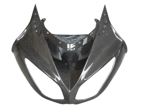 Front Fairing in Glossy Plain Weave Carbon Fiber for Kawasaki ZX10R 2010