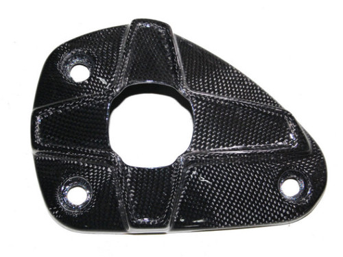 Exhaust End Cap in Glossy Plain Weave Carbon Fiber for Kawasaki ZX10R 2008-2009