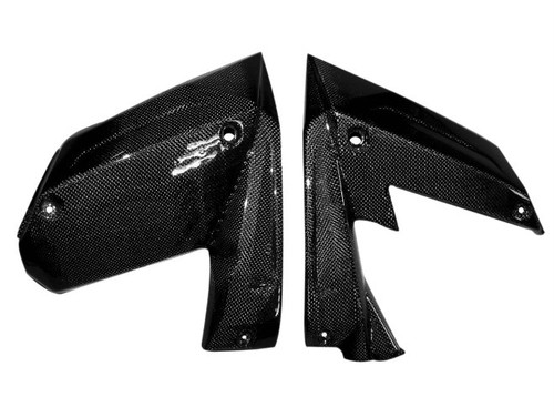 Lower Panels in Glossy Plain Weave Carbon Fiber for Kawasaki ZX10R 2008-2009