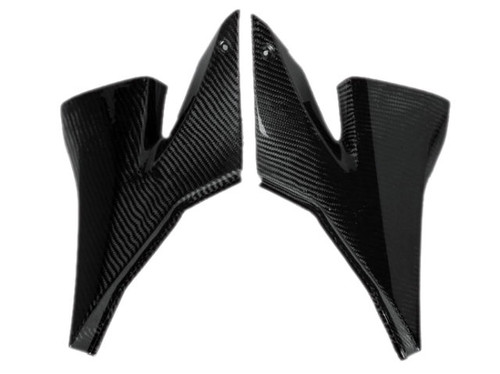 Side Panels in Glossy Twill Weave Carbon Fiber for Kawasaki ZX10R 2004-2005