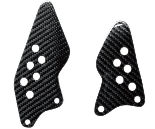 Heel Plates in Glossy Twill Weave Carbon Fiber for Kawasaki ZX10R 2004-2005