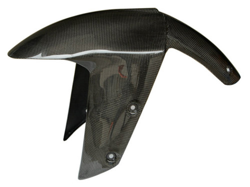 Front Fender in Glossy Plain Weave Carbon Fiber for Kawasaki ZX10R 2004-2005