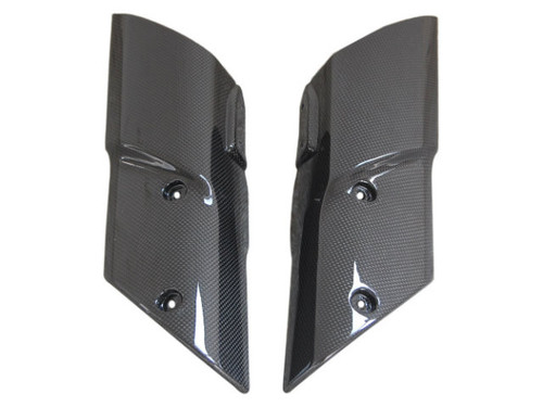 Front Fender Sides in Glossy Plain Weave Carbon Fiber for Kawasaki Z1000 2010-2013