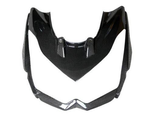 Front Fairing without Middle Parts in Glossy Plain Weave Carbon Fiber for Kawasaki Z1000 2010-2013