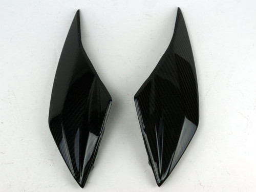 Front Fairing Middle Parts in Glossy Twill Weave Carbon Fiber for Kawasaki Z1000 2010-2013
