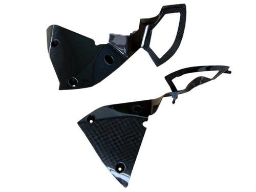 Side Fairings in Glossy Plain Weave Carbon Fiber for Kawasaki Z1000 2010-2013