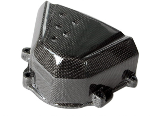 Sprocket Cover in Glossy Plain Weave Carbon Fiber for Kawasaki Z1000 2007-2009, Z750 2007-2012