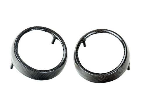 Instrument Bezels in Glossy Plain Weave Carbon Fiber for Kawasaki ZRX1100,1200