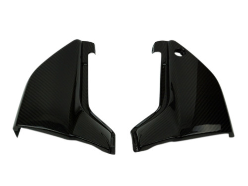 Side Panels in Glossy Twill Weave Carbon Fiber for Kawasaki ZRX1100,1200