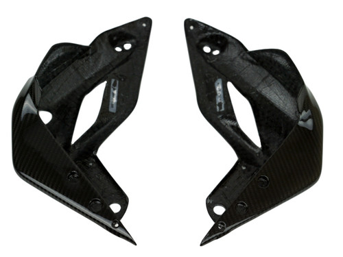 Radiator Shrouds in Glossy Twill Weave Carbon Fiber for MV Agusta Brutale 675 & 800 2013-2015, Dragster 2014-2017