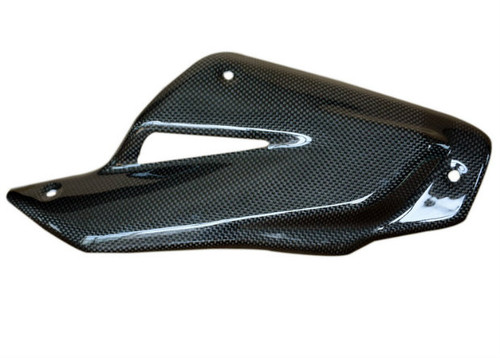 Heat Shield in Glossy Plain Weave Carbon Fiber for MV Agusta Brutale 920, 990R, 1090RR