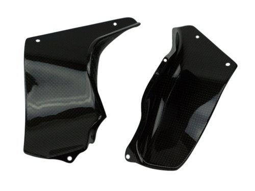 Side Covers (2) in Glossy Plain weave Carbon Fiber for MV Agusta Brutale 2004-2009