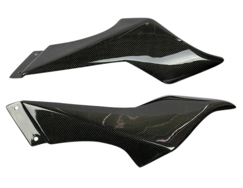 Air Tube Covers in Glossy Plain Weave Carbon Fiber for MV Agusta F4 1999-2009
