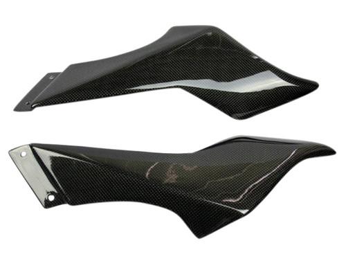 Air Tube Covers in Glossy Plain Weave Carbon Fiber for MV Agusta F4 1999-2009