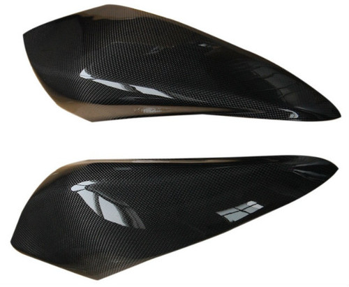 Large Tank Covers in Glossy Plain Weave Carbon Fiber for MV Agusta F4 2010+