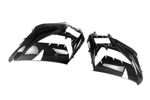 Side Fairings in Glossy Plain Weave Carbon Fiber for Kawasaki ZX14R/ZZR1400 2012+