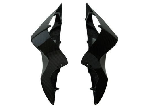 Tail Side Fairings in Glossy Twill Weave Carbon Fiber for Suzuki GSXR 600, GSXR 750 2011-2019