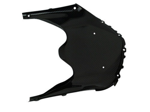 Front Fairing Windscreen Holder in Glossy Twill Weave Carbon Fiber for Suzuki GSXR 600, GSXR 750 2011-2019