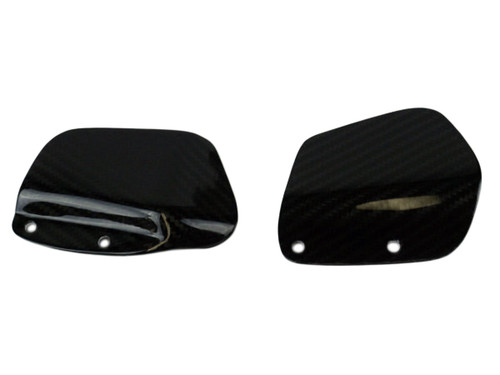 Gilles Rearsets Heel Plates in Glossy Twill Weave Carbon Fiber for Suzuki GSXR 1000