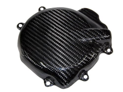 Alternator Cover in Glossy Twill Weave Carbon Fiber for Suzuki GSXR 1000 2005-2008