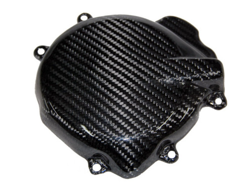 Alternator Cover in Glossy Twill Weave Carbon Fiber for Suzuki GSXR 1000 2005-2008