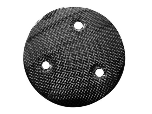 Clutch Cover (style 2) in Glossy Plain Weave Carbon Fiber for Suzuki B-King 2007-2012