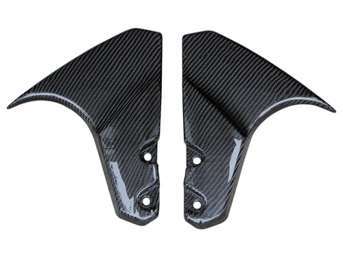 Fork Covers in Glossy Twill Weave Carbon Fiber for Suzuki B-King 2007-2012