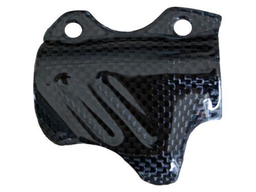Brake Pump Cover in Glossy Plain Weave Carbon Fiber for Ducati