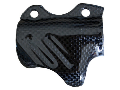 Brake Pump Cover in Glossy Plain Weave Carbon Fiber for Ducati
