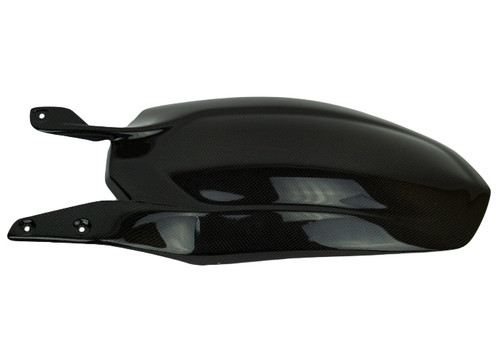 Larger Rear Hugger in Glossy Plain Weave Carbon Fiber for Ducati 1198,1098, 848