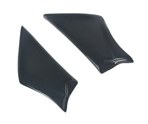 Airbox Cover in Glossy Plain Weave Carbon Fiber for Ducati 748, 916, 996