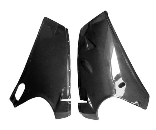 Lower Fairings in Glossy Plain Weave Carbon Fiber for Ducati 748, 916, 996, 998