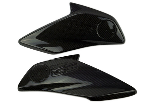 Radiator Covers (w/o emblems) in Glossy Twill Weave Carbon Fiber for BMW R1200GS 2013-2016
