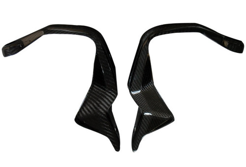 Hand Protectors in Glossy Twill Weave Carbon Fiber for BMW R1200GS 2013-2019, F800GS