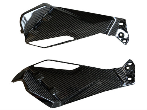 Under Tank Panels in Glossy Twill Weave Carbon Fiber for BMW R1200GS 2013-2016