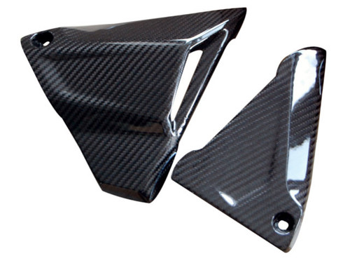 Battery Side Covers in Glossy Twill Weave Carbon Fiber for BMW R1200GS 2013-2019, R1200R, RS 2015+