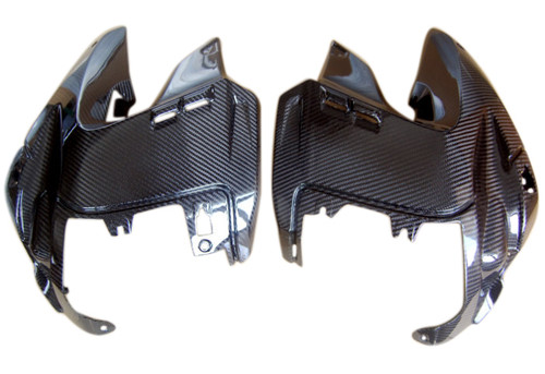 Complete Upper Side Covers in Glossy Twill Weave Carbon Fiber for BMW R1200GS 2004-2012