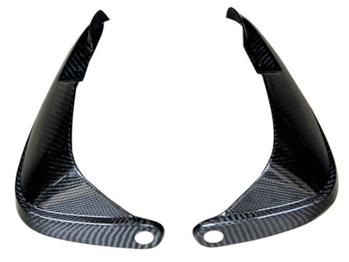 Hand Protectors in Glossy Twill Weave Carbon Fiber for BMW R1200GS 2004-2007