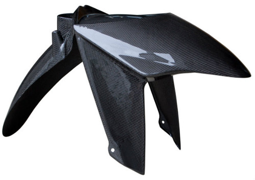 Front Fender in Glossy Plain Weave Carbon Fiber for BMW R1200S