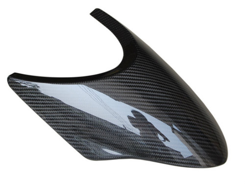 Front Fender Extender in Glossy Twill Weave Carbon Fiber for BMW R1200S