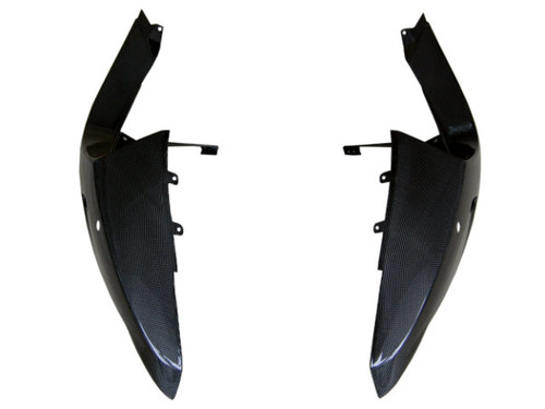 Rear Fairings in Glossy Plain Weave Carbon Fiber for BMW R1200S