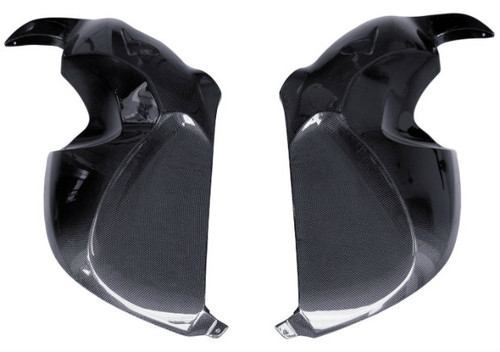 Side Panels in Glossy Plain Weave Carbon Fiber for BMW R1200S