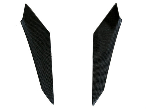 Tank Side Panels in Glossy Plain Weave Carbon Fiber for BMW R1200S