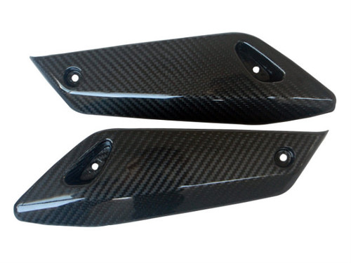 Winglets in Glossy Twill Weave Carbon Fiber for BMW R1200R 2011-2014