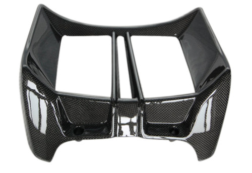 Radiator Cover in Glossy Plain Weave Carbon Fiber for BMW R1200R