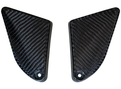 Inner Side Covers in Glossy Twill Weave Carbon Fiber for BMW F800GS 08-12
