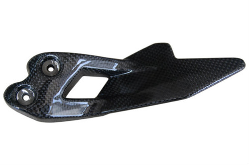 Heel Guard Plate in Glossy Plain Weave Carbon Fiber for BMW F800GS 08+
