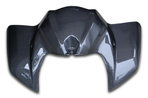Tank Cover in Glossy Plain Weave Carbon Fiber